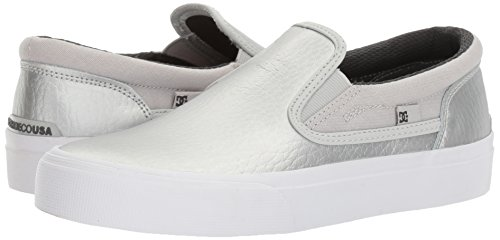 DC Women's Trase Slip-on SE Skateboarding Shoe, Silver, 8.5 B US by DC (Image #6)