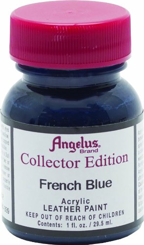 Angelus Collector's Edition Acrylic Leather Paint - 1 Ounce, French Blue (Jordan French Blue 7)