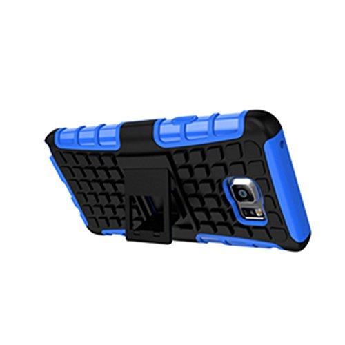 Galaxy Note 5 Funda,COOLKE Duro resistente Choque Heavy Duty Case Hybrid Outdoor Cover case Bumper protección Funda Para Samsung Galaxy Note 5 - Azul Azul