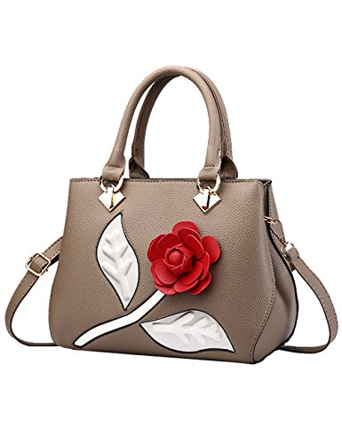 Khaki Bags body Bag Women's Shoulder 26cm Cross Handle Bags Bag Hand PU U0xx7qPwa