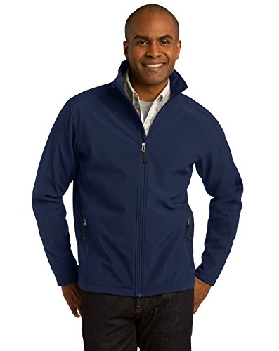 Port Authority Men's Core Soft Shell Jacket 4XL Dress Blue (Mens Soft Shell Traditional Jacket)