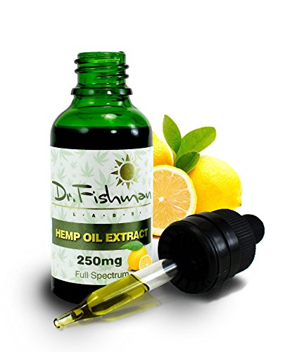 Full Spectrum Hemp Oil - Lemon Flavor - by Dr. Fishman Labs - 250mg 99.9% Pure Hemp Extract - Pain - Stress - Anxiety Relief 30ml -(1oz) by Dr. Fishman Hemp Oil