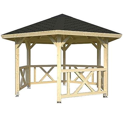 ITALFROM cenador de Madera pérgola tettoia Pabellones de Madera de jardín M² 9,9 italfromgiard2: Amazon.es: Hogar