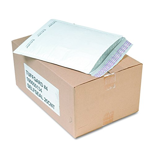 Sealed Air 49675 Jiffy TuffGard Self Seal Cushioned Mailer, #4, 9 1/2 x 14 1/2, White (Case of 25)