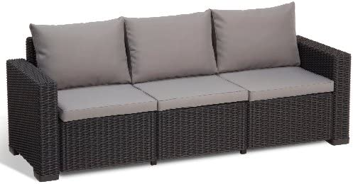Allibert California Sofa - Patio Sofas (Grafito, Gris, Alrededor, Sofa): Amazon.es: Jardín