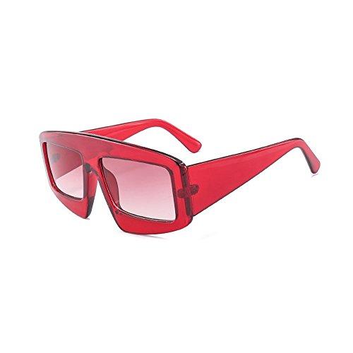 Mujeres gradiente Sol Mujer Anteojos Popular de B Cuadrado Hombres C Burenqi UV400 Marca Gafas Diseñador Gafas xIqPtT