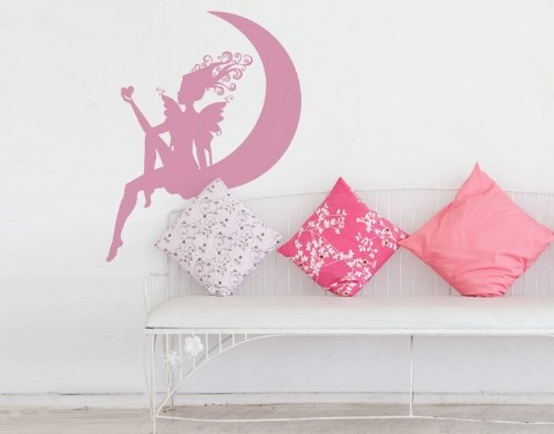 Lovely Fairy Wall Decal by Style & Apply - highest quality wall decal, sticker, mural vinyl art home decor - 4159 - Lilac, 47in x 60in