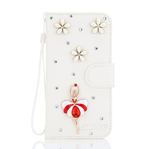 LG Angler - Accessory Leather iphone Cases Wallet Style Flip Cover Case For LG Angler ONLY (LG Angler Cover Ballet Dancer)