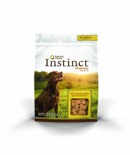 Nature's Variety Instinct Grain Free Biscuits with Chicken Meal & Cranberries Dog Treats, 20 oz. Bag by Nature's Variety