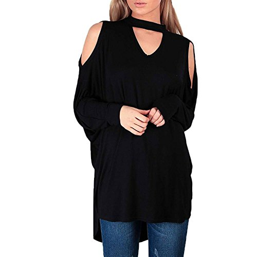 New DMZing Womens Ladies Lagenlook Cold Cut Shoulder Baggy Oversized Choker Neck Hi Lo Top supplier