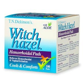 Witch Hazel Hemorh Pads Size 100s Dickinson'S Hemorrhoid Pads