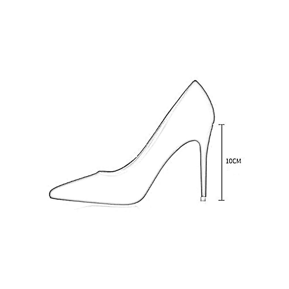 TYD.L High Heels A134 Frauen Frauen Frauen Hochwertige Materialien Mode Sexy Elegant Spitze High Heels Damenschuhe Einzelne Schuhe Frühling Und Sommer 10CM Schwarz Rot (Farbe   SCHWARZ, größe   EU38 UK5.5 CN38) 3cc6df