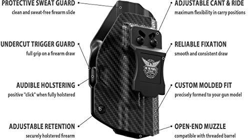 [해외구매대행 ] We The People - Carbon Fiber - Inside Waistband Concealed Carry -  IWB Kydex Holster - Adjustable Ride/Cant/Retention