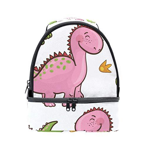 para hombro Alinlo correa dinosaurio Bolsa con el diseño de aislante la escuela de almuerzo con de pincnic ajustable para OprqOP