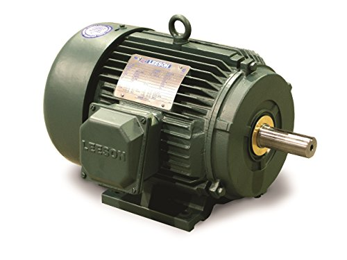 (Leeson 171630.60 Wattsaver Plus Severe Duty Motor, 3 Phase, 184T Frame, Rigid Mounting, 5HP, 1800 RPM, 208-230/460V Voltage, 60/50Hz Fequency)