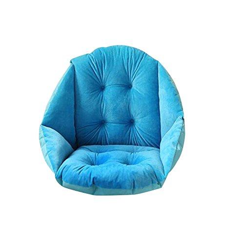 41o PiNTi4L - TRIEtree-Plush-Dining-Chair-Cushion-Student-Thickening-Warm-Cushion-Office-Waist-Cushion-Computer-Game-Chair-Cushion-sky-blue