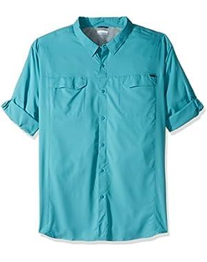 Men's Big-Tall Silver Ridge Lite Long Sleeve Shirt, Teal, 4XT