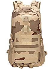 SellerFun Men Women Multi-Function Military Tactical Camouflage Backpack 35L Outdoor Sport