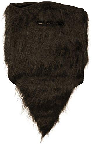 neff Men's Bearded Facemask, Black, One Size