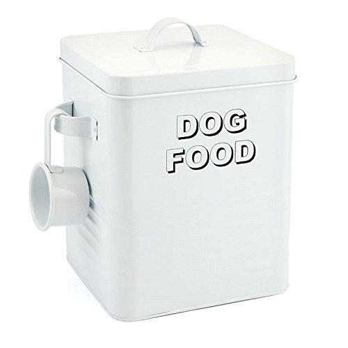 Leonardo Collection Home Sweet Dog Food Container, White