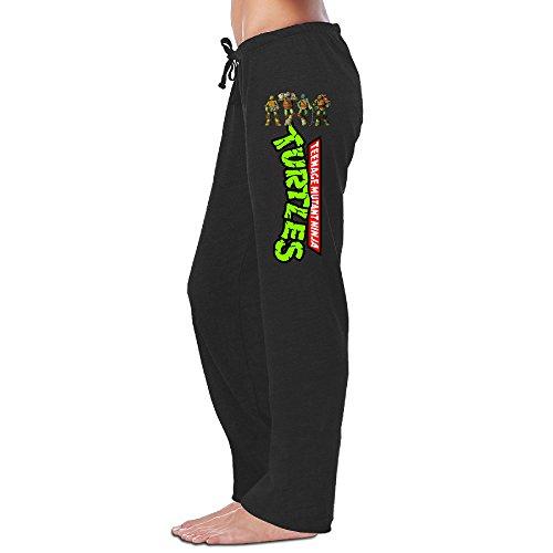 Womens Teenage Mutant Ninja Turtles 2 Fleece Sweatpants Black Size M