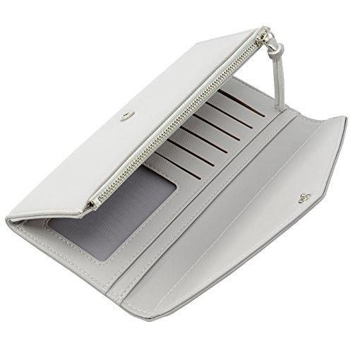 ChinbelBay Women's Wallet Thin Zipper Card Holder Wallet Purse (Gray)