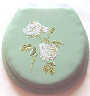 sea shell toilet seat. 17  Cushioned Toilet Seat With Embroidery Design Rose Seashell
