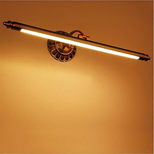 OOFAY Light@ Spiegelleuchten Europäische LED Voll Kupfer Bad Spiegel An Der Vorderen Wand Lampe Mit Langen Spiegelschrank Badezimmer Retro American Badezimmer Wand Lampe 50 * 15 * 18CM