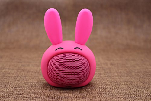 Icutes portable bluetooth cell phone mini speakers, animal pet cute rabbit cartoon wireless speakers,Audio& vedio clear voice player support smartphone Ipad and other bluetooth audio playback device (Best Corporate Gifts For Clients)