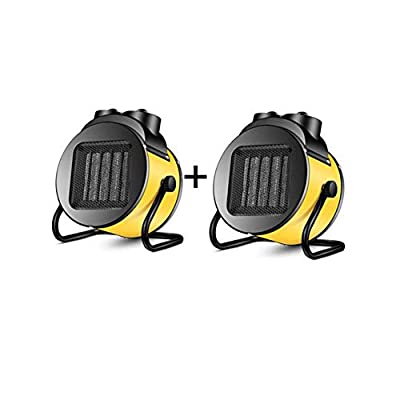 Air Conditioners CJC Electric Heaters Fan Pack of 2 Portable PTC Ceramic 2000W Thermostat Safety Cut-Off