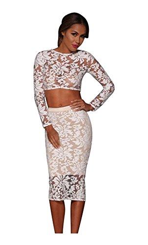 Mela Proibita Damen Kleid Weiß weiß Large