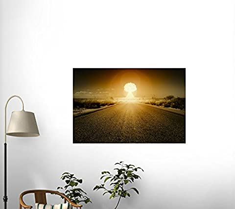 Nuclear Bomb Explosion Wall Mural WM475250 by Wallmonkeys (72 in W x 48 in H) (Nuclear Bomb Decal)