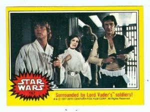 Image result for 1977 star wars cards luke han leia