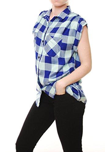 Rails Britt Rolled Buttondown Mint/Cobalt Shirt