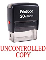 Printtoo Custom Stamp UNCONTROLLED COPY Self Inking Rubber Stamp Office Stationary-Red