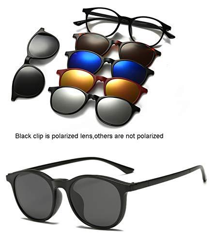 Sunglasses Clip Mirrored Clip On Sunglasses Clip On Glasses Men Polarized Clips Custom Prescription Myopia ()