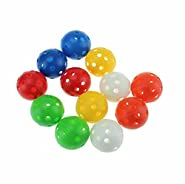 Taihemingna 40mm Mixed Color Plastic Airflow Golf Practice Ball, Pack of 20pcs Hollow Sports Training Balls Good for your pets