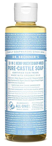 (Dr. Bronner's Pure-Castile Liquid Soap - Baby Unscented - 8 Ounce)
