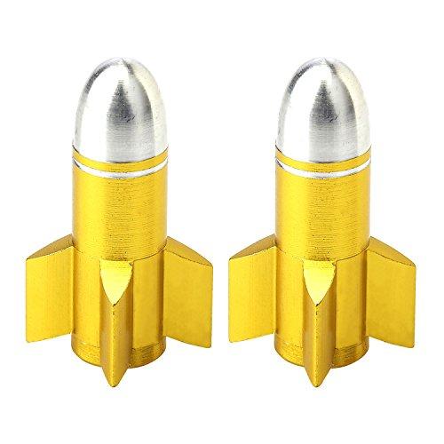 AKI WORLD(アキワールド) VALVE CAP ROCKET GOLD OT-FR-054