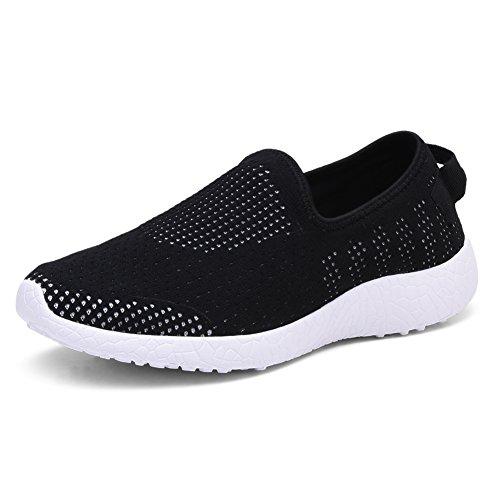 TIOSEBON Men Go Easy Running Sneakers 8255 Black
