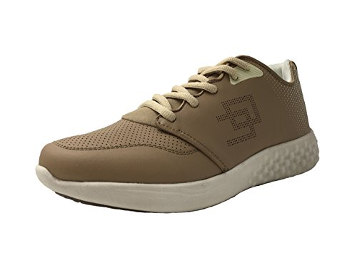Honeystore Mens PU Leather Slip-Resistant Sports Sneakers Running Shoes Grey r7RHTva