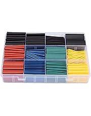 530 قطعة /مجموعة أنابيب عزل حرارية متنوعة إلكترونية حافظة قابلة للانكماش من البولي أوليفينات بنسبة 2:1 من أجل لف سلك الكابل
