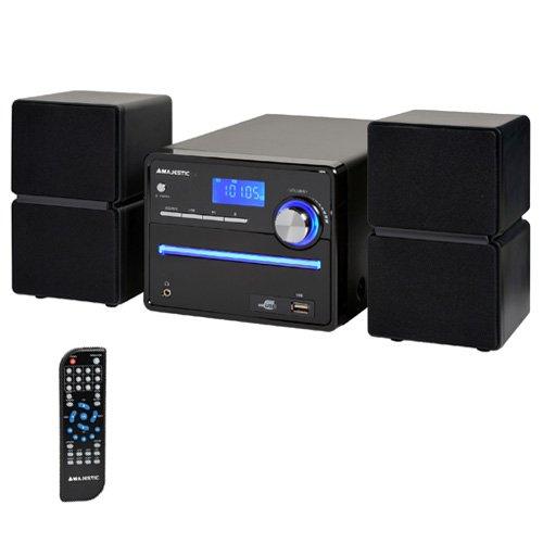 New Majestic AH-2336 MP3 USB - Microcadena (Home Audio Micro System, Negro, De 2 vías, FM, LCD, MP3,WMA)