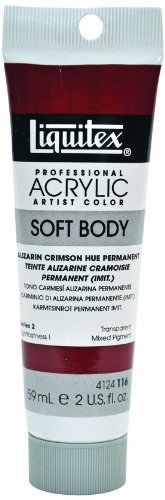 Liquitex Professional Soft Body Acrylic Paint 2-oz tube, Alizarin Crimson Hue Permanent by Liquitex