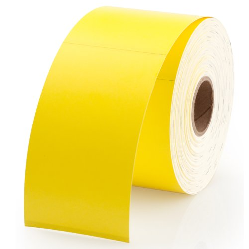 """Dymo 30374Y Compatible Yellow Appointment Cards 2"""" x 3-1/2"""" - 300 Cards Per Roll"""