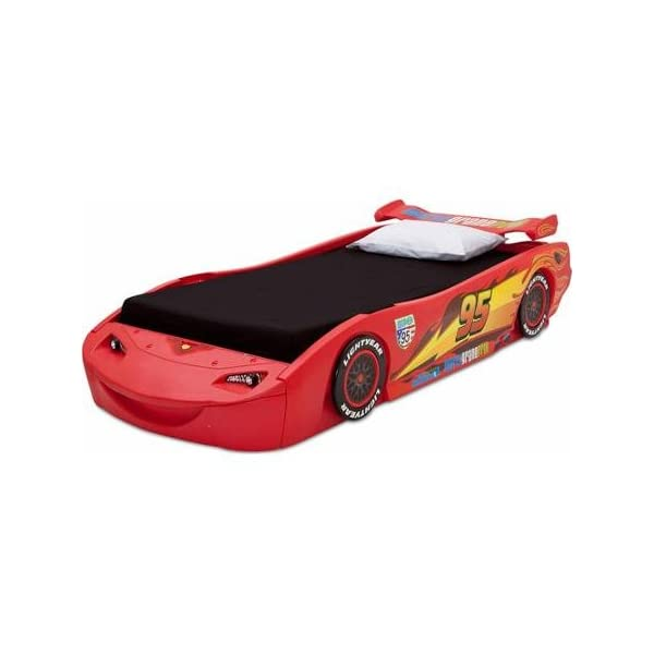 Disney - Cars Lightning McQueen Twin Bed with Lights Recommended For Kids Of All Ages 2