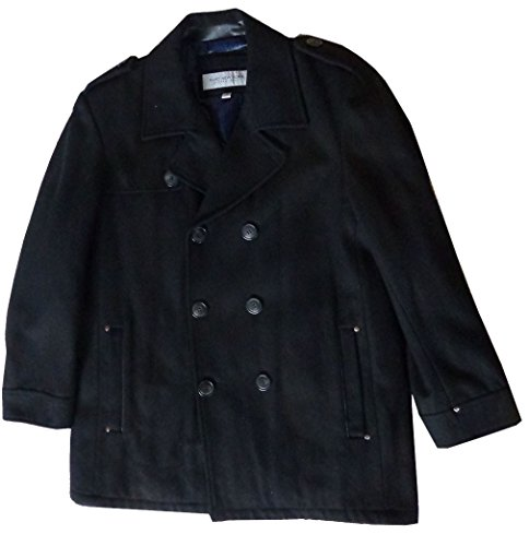 Andrew Marc Men's Nick Wool Coat Black X-Large