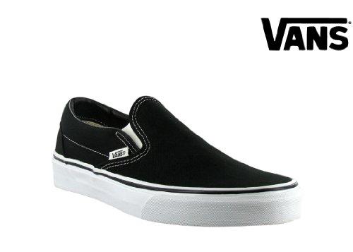 Vans Classic Slip-On Skate Shoe Black/White 10 D(M) US Men by Vans