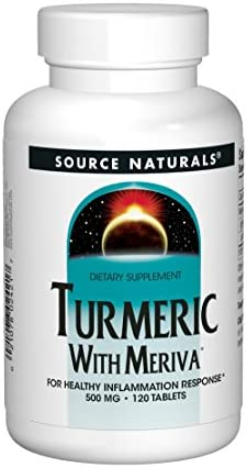 Source Naturals Turmeric with Meriva 500mg for Healthy Inflammatory Response – 120 Tablets