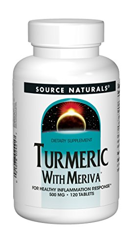 Source Naturals Turmeric with Meriva 500mg For Healthy Inflammatory Response - 120 Tablets